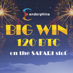 Wonderful 120 BTC win on the Safari slot in Betchain casino