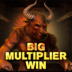 Unbelievable multiplier win in Minotaurus slot