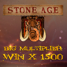 Stone age turns into a golden age with a x1500 big multiplier win