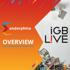 iGB L!ve 2018 where dollar bills rained at Endorphina's stand!