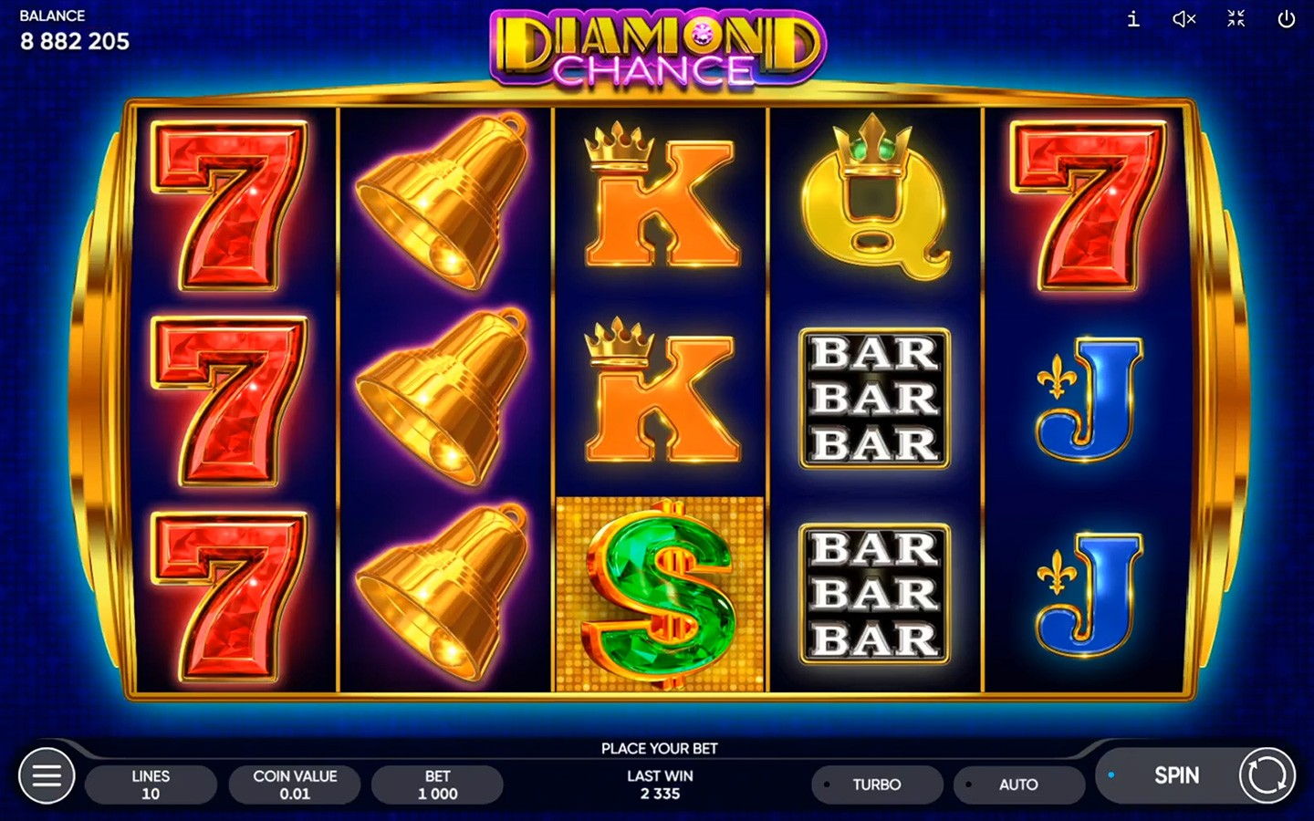 SLOT GAME SOFTWARE | Play Diamond Chance game now