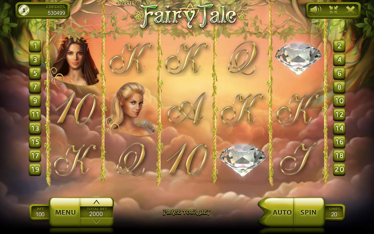 Fairy Tale Slot Machine - Online Casino Game by Endorphina