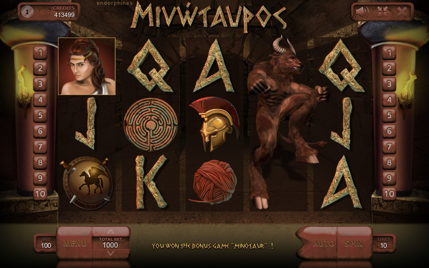 Minotaurus Slot Game | Online Casino Game by Endorphina