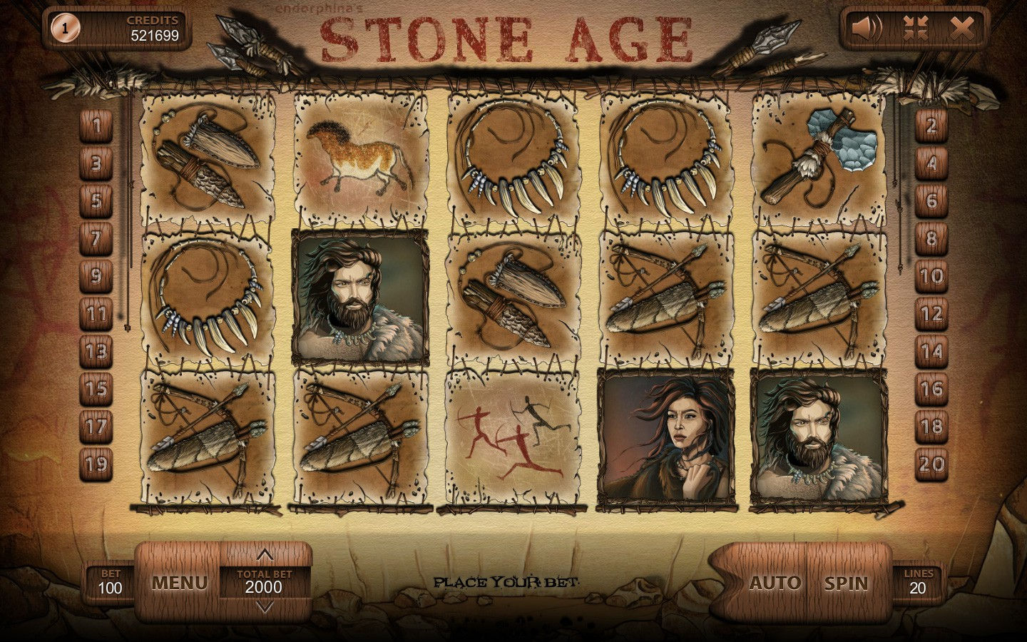 PREMIUM HISTORICAL SLOTS | Try STONE AGE GAME now!