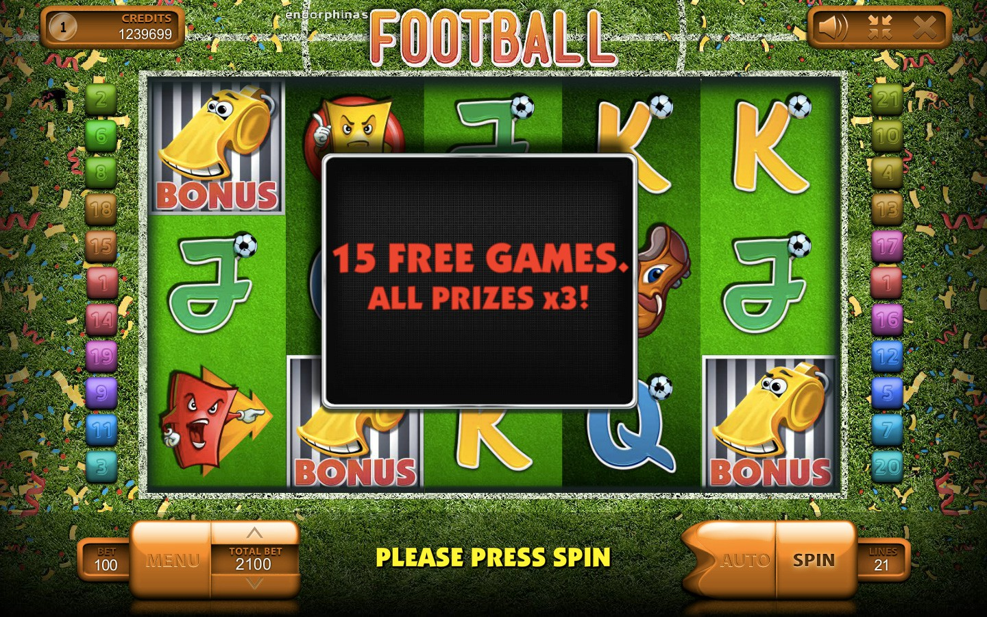 Football Slots Game - Try it Online for Free or Real Money