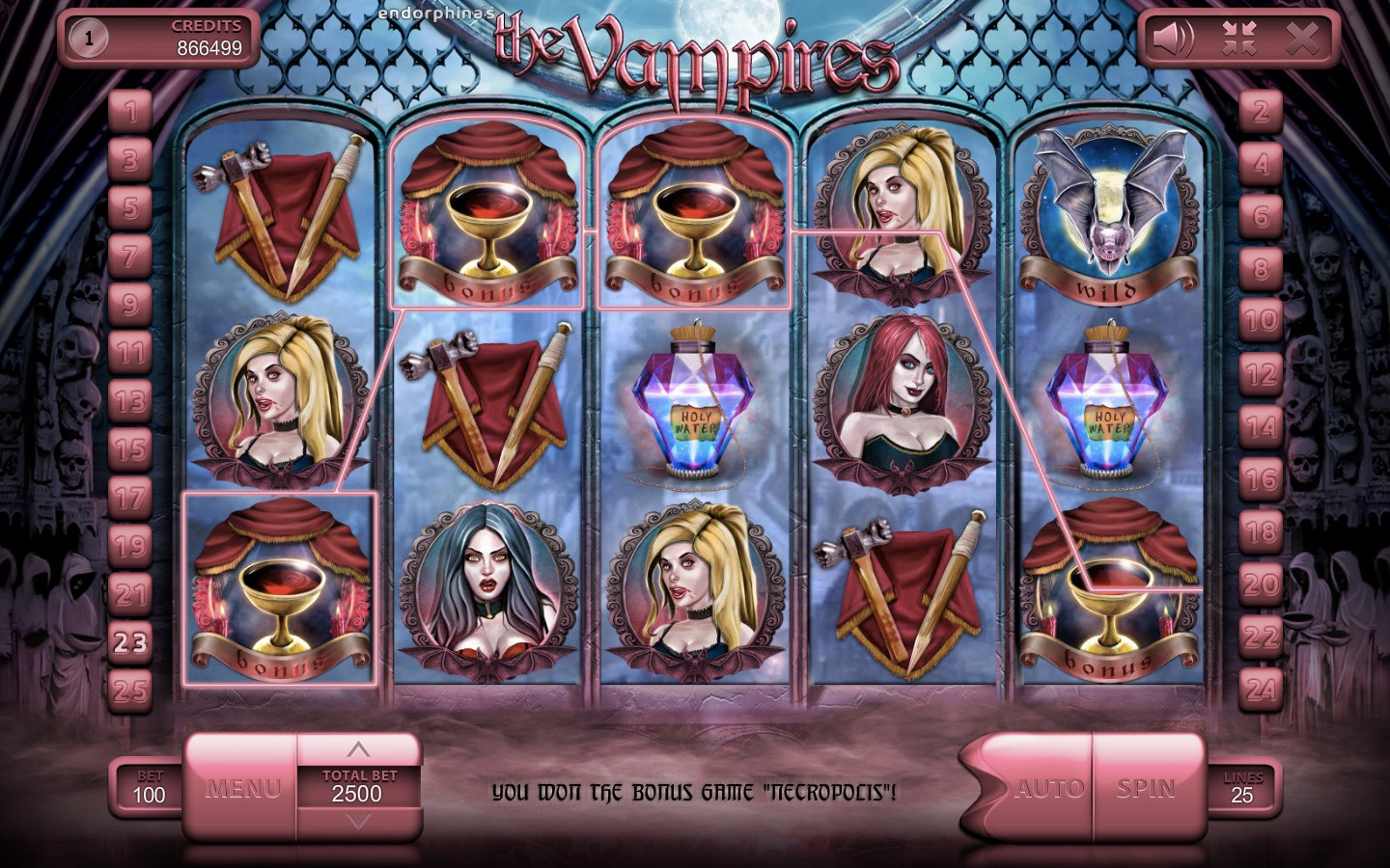 The Vampires Slot Game - Try it now in Your Web Browser