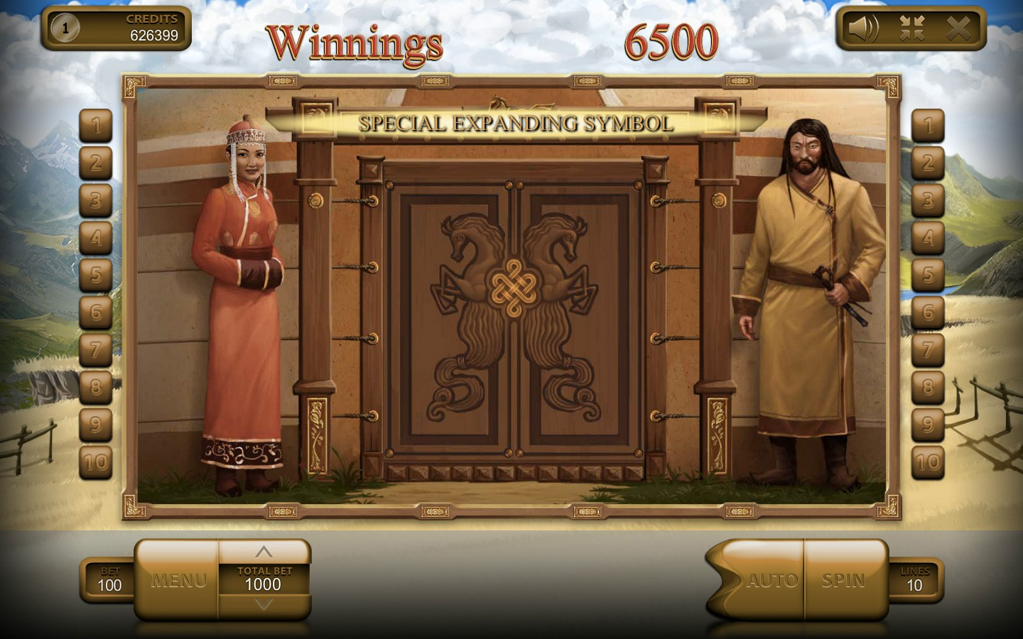 Mongol Treasures Slots - Play for Free in Your Device