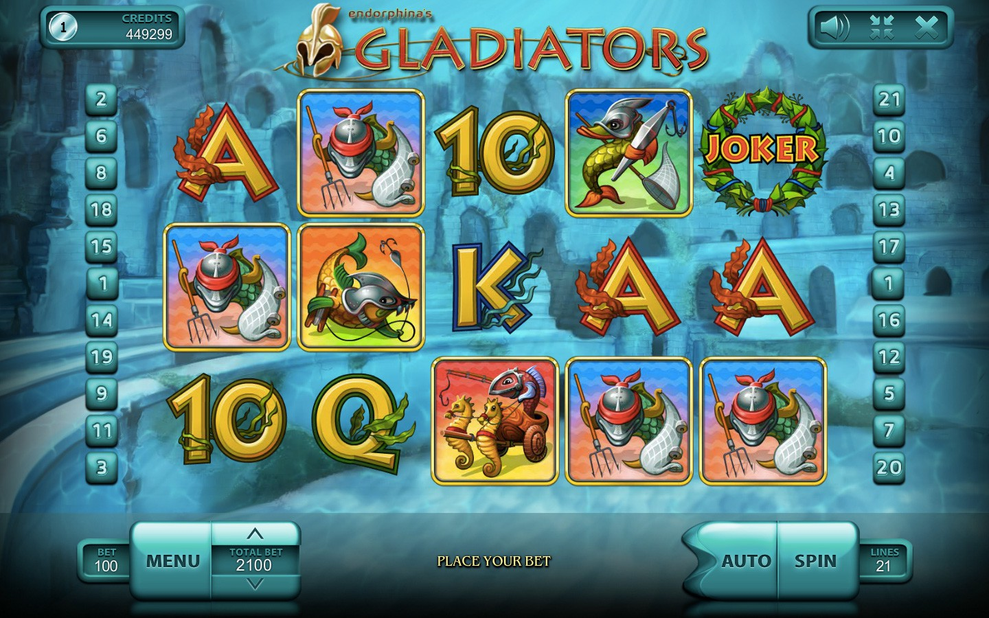 Gladiator slot game by Endorphina | Try it now in Your Web Browser