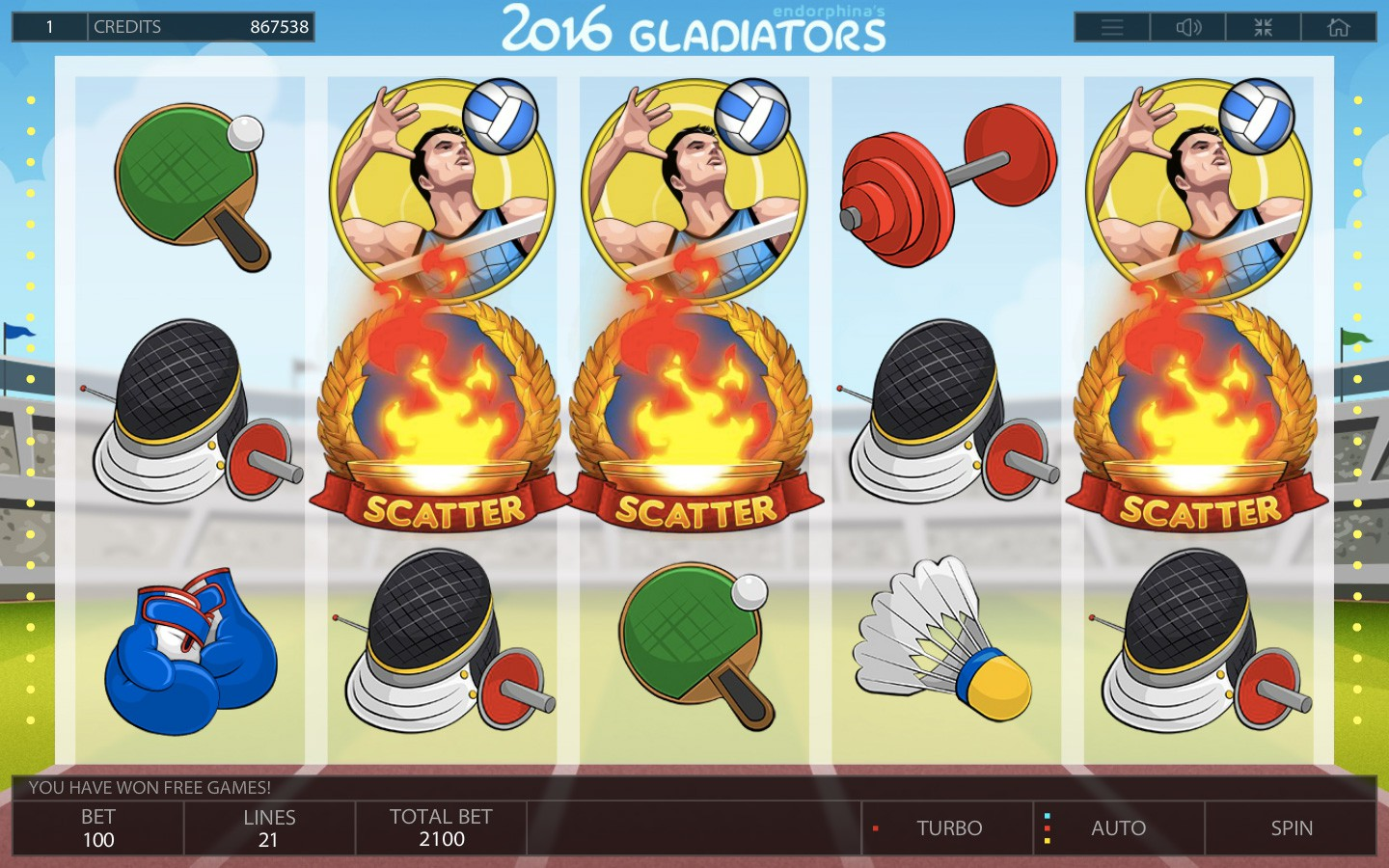 Premium Sport Slots Online | Play 2016 GLADIATORS slot now!
