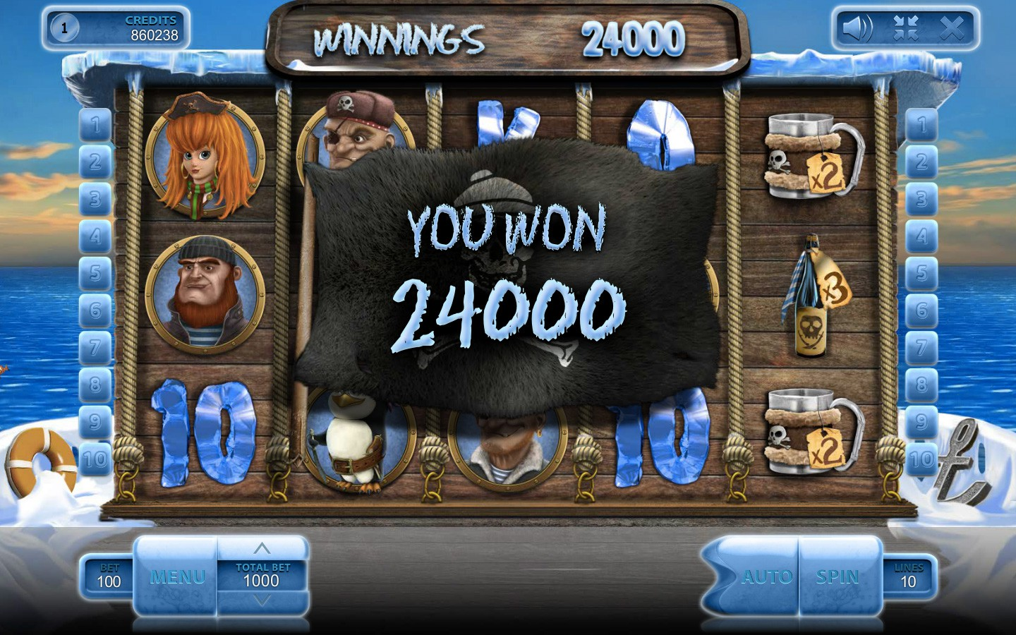 Play Ice Pirates slot by Endorphina!