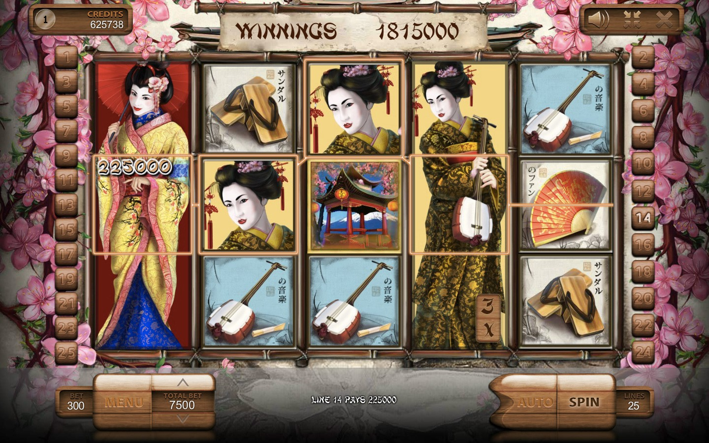 Geisha Slot Machine by Endorphina Slots Game