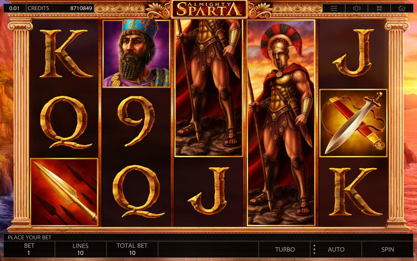Play Almighty Sparta slot by Endorphina!